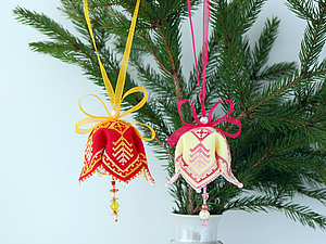 МК Новогодние колокольчики | Ярмарка Мастеров - ручная работа, handmade