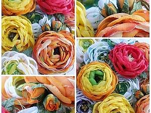 Делаем цветы из ткани. Ярмарка Мастеров - ручная работа, handmade.