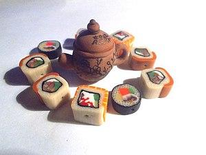 Лепим миниатюрный японский чайник для кукольного дома. Ярмарка Мастеров - ручная работа, handmade.