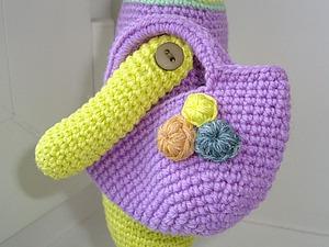 Вяжем красивую сумочку для игрушки. Ярмарка Мастеров - ручная работа, handmade.