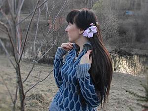 Ромбы в одежде. Техника объемного вязания.. Ярмарка Мастеров - ручная работа, handmade.