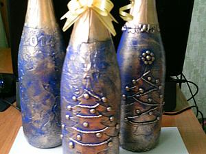 Декорирование бутылки шампанского к новому году. Ярмарка Мастеров - ручная работа, handmade.
