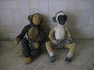 Лепим двух обезьянок из соленого теста. Ярмарка Мастеров - ручная работа, handmade.