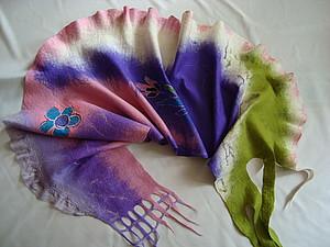 Приглашаю на мастер-класс  по валянию шарфика | Ярмарка Мастеров - ручная работа, handmade