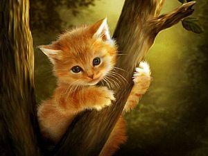 Фэнтези лес для кошек. | Ярмарка Мастеров - ручная работа, handmade