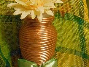Декор вазы из ненужных проводов | Ярмарка Мастеров - ручная работа, handmade