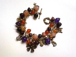 Сборка комплекта украшений - браслет и серьги | Ярмарка Мастеров - ручная работа, handmade
