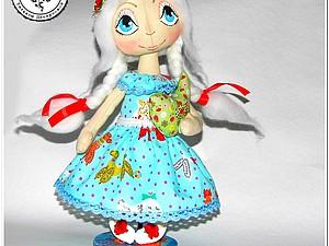 Рисуем глаза и оформляем лицо кукле-тыквоголовке | Ярмарка Мастеров - ручная работа, handmade