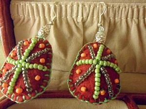 Этнические сережки | Ярмарка Мастеров - ручная работа, handmade