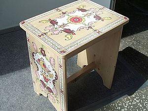 Комплект деревянных табуреток готов для росписи на заказ | Ярмарка Мастеров - ручная работа, handmade