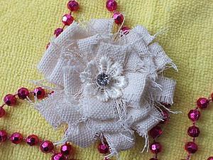 Мастер- класс: Цветок из ткани. Ярмарка Мастеров - ручная работа, handmade.