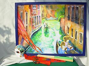 Новая картина из цикла Путешествия медвежонка Тима! О, Венеция, сказочный город!   Ярмарка Мастеров - ручная работа, handmade
