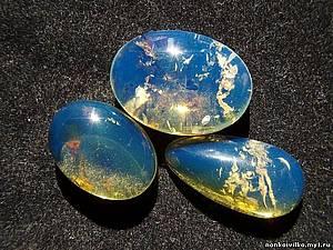 Коллажи про камни. Синий янтарь. | Ярмарка Мастеров - ручная работа, handmade