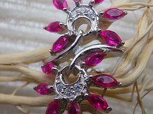 Аукцион-Повтор! Кольцо из серебра с рубинами! ЗАКОНЧЕН! | Ярмарка Мастеров - ручная работа, handmade