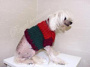 Вяжем пуловер для собачки. Ярмарка Мастеров - ручная работа, handmade.