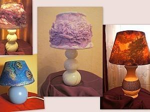 Светильник с валяным абажуром по скайпу | Ярмарка Мастеров - ручная работа, handmade