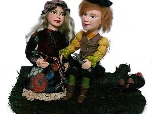 Двое на бревне, или как я делала куклы по 1 фото с лицами заказчиков | Ярмарка Мастеров - ручная работа, handmade