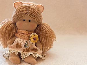 Еще одна куколка-кошечка. Талисманчик на удачу | Ярмарка Мастеров - ручная работа, handmade