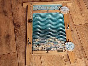 Волшебное преображение стиральной доски: создаем симпатичную вешалку в морском стиле. Ярмарка Мастеров - ручная работа, handmade.