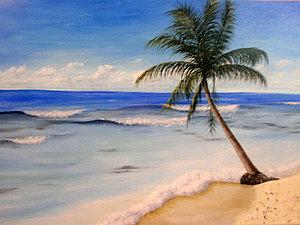 Морской пейзаж маслом. Ярмарка Мастеров - ручная работа, handmade.