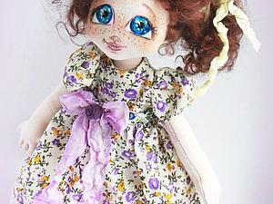 «Сиреневое счастье»: текстильная куколка — от выкройки до наряда. Часть 2. Ярмарка Мастеров - ручная работа, handmade.