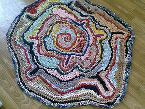 Деревенский коврик | Ярмарка Мастеров - ручная работа, handmade