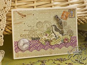 Мастер-класс по скрапбукингу «Лавандовые открытки» | Ярмарка Мастеров - ручная работа, handmade