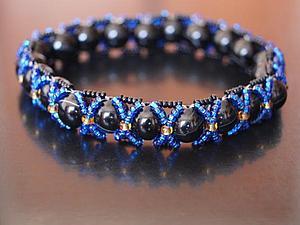 Мастер-класс: браслет плетёный с крупными бусинами. Ярмарка Мастеров - ручная работа, handmade.