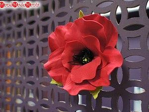 Цветы из фоамирана. Мак | Ярмарка Мастеров - ручная работа, handmade