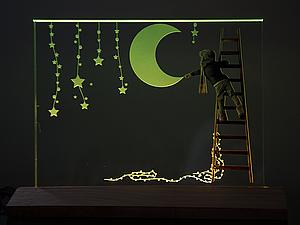 Новогодние акцентные светильники + наклейки в подарок! | Ярмарка Мастеров - ручная работа, handmade