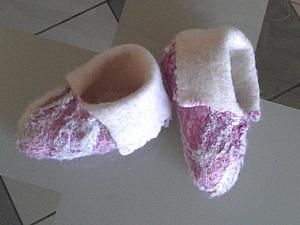 Валяные пинетки для новорождённого | Ярмарка Мастеров - ручная работа, handmade