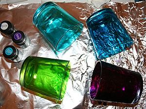 Витражными красками по неровной поверхности | Ярмарка Мастеров - ручная работа, handmade