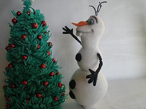 Мастер-класс: снеговик Олаф в технике сухого валяния | Ярмарка Мастеров - ручная работа, handmade