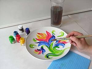 Детский мастер-класс. Роспись по керамике | Ярмарка Мастеров - ручная работа, handmade