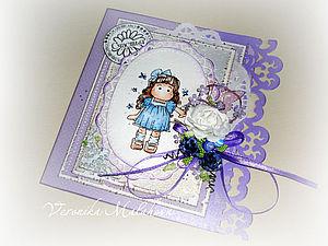 Мастер-класс: открытка в технике скрапбукинг для девочки. Ярмарка Мастеров - ручная работа, handmade.