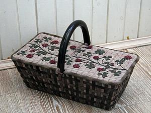 Коробка для рукоделия   Ярмарка Мастеров - ручная работа, handmade