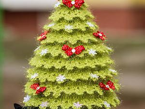 Вяжем искрящуюся новогоднюю ёлочку. Ярмарка Мастеров - ручная работа, handmade.