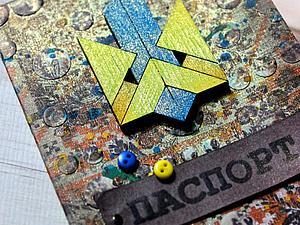 Мастер-класс: микс-медийная обложка на паспорт в украинском стиле. Ярмарка Мастеров - ручная работа, handmade.