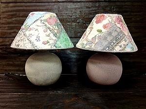 Декупажный пэчворк - имитируем лоскутное шитье! Делаем уникальную лампу ! | Ярмарка Мастеров - ручная работа, handmade