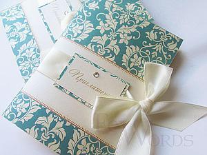 Изготовление приглашения на свадьбу в стиле