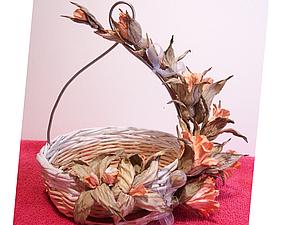 Ветвь цветов из акварельной бумаги, handmade