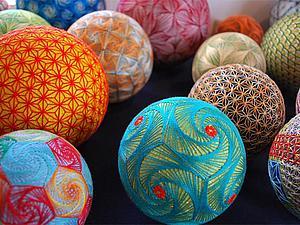 Тэмари — японское искусство вышивания на шарах. Идеи для вашего творчества. Ярмарка Мастеров - ручная работа, handmade.