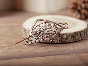 Делаем заколку для шарфа в технике wire work. Ярмарка Мастеров - ручная работа, handmade.