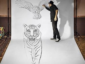 Новые масштабные 3D рисунки от Бена Гейне | Ярмарка Мастеров - ручная работа, handmade