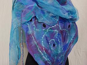 Валяем на шёлке  шарфик (новичкам)   Ярмарка Мастеров - ручная работа, handmade