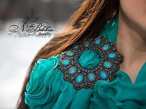Пряжка многофункциональная. Вышивка бисером | Ярмарка Мастеров - ручная работа, handmade