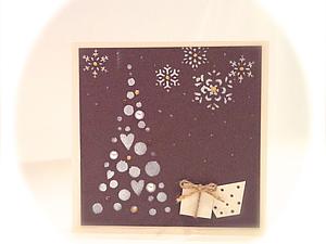 Создание новогодней открытки. Ярмарка Мастеров - ручная работа, handmade.