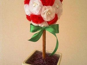 Мастерим топиарий из подручных материалов   Ярмарка Мастеров - ручная работа, handmade