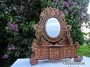 Мастер-класс: прекрасное зеркало «French Mirror» в технике опаленного узора. Ярмарка Мастеров - ручная работа, handmade.