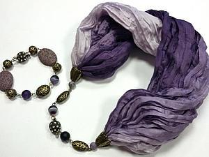Новый МК по сборке украшений - колье-шарф или бусы-трансформер!   Ярмарка Мастеров - ручная работа, handmade